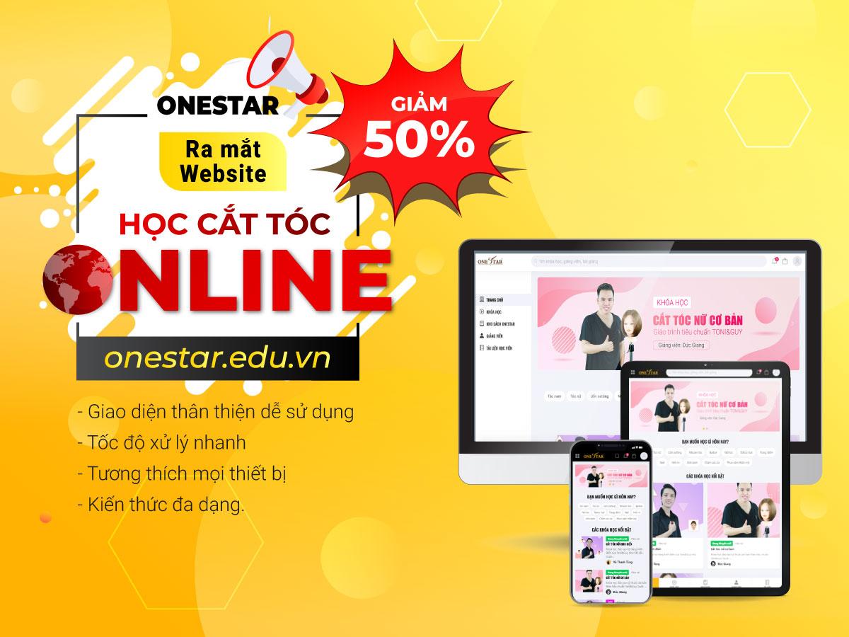 (Học viện tóc quốc tế OneStar ra mắt ứng dụng học cắt tóc online)